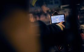 LKW Navigationsgerät im Einsatzfahrzeug